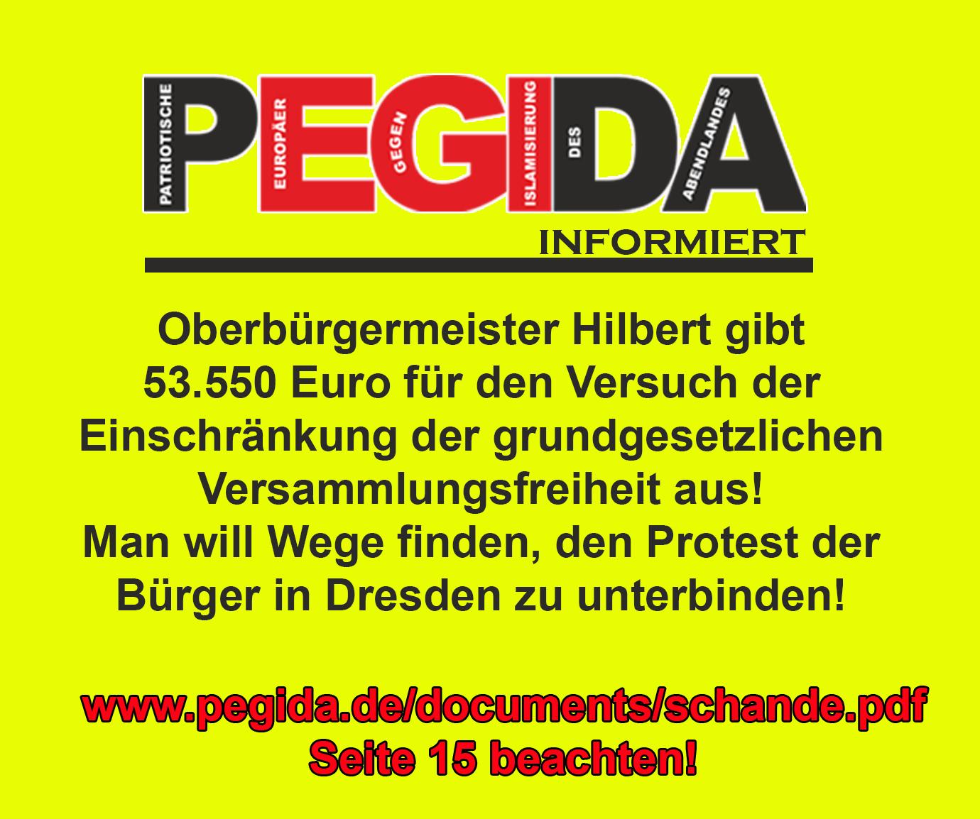 PEGIDA - Patriotische Europäer gegen die Islamisierung des Abendlandes